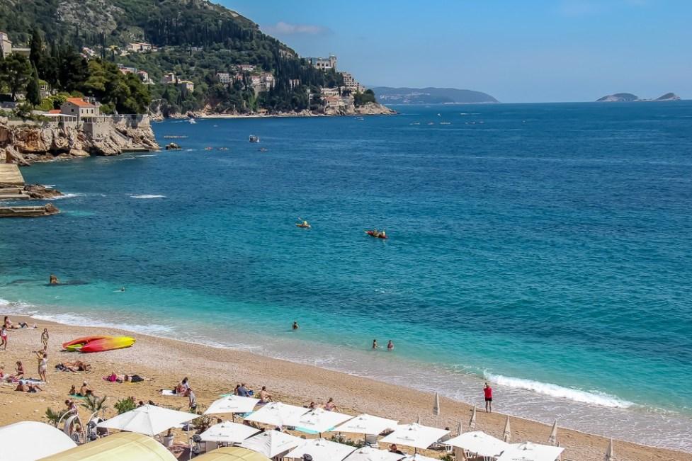 Banje Beach Club in Dubrovnik, Croatia