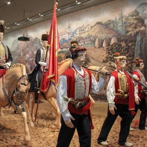 Display at the Alka Museum in Sinj, Croatia