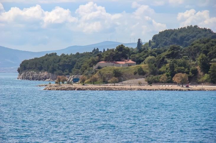 Beach Jezinac in Split, Croatia