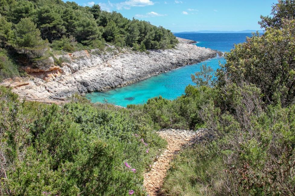 Coastal Trail from Hvar Town to Milna, Croatia