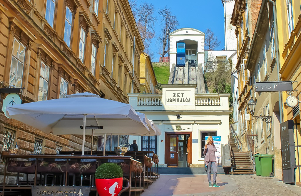 Funicular Lower Station in Zagreb, Croatia