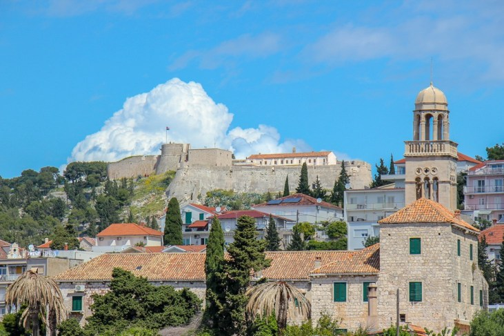 Hvar Town and Spanish Fortress in Croatia