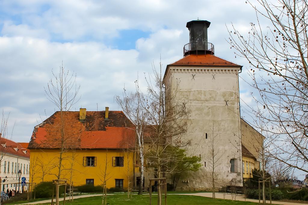 Historic Lotrscak Tower in Zagreb, Croatia