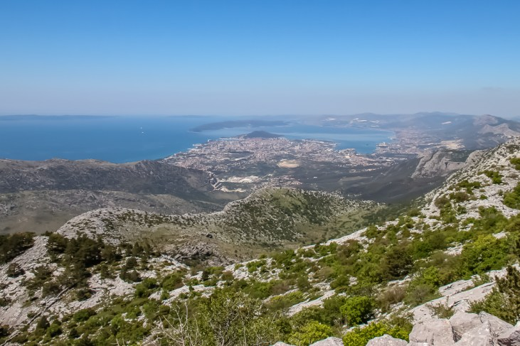 View of Split, Croatia from Mosor Mountain