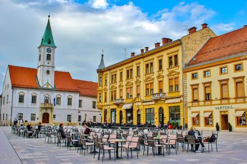 Main square in Varazdin, Croatia