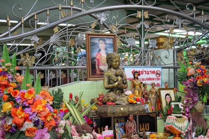 Shrine to Mae Nak in Wat Mahabut in On Nut Bangkok, Thailand