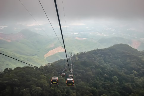 Cable Cars to Ba Na Hills Theme Park in Da Nang, Vietnam