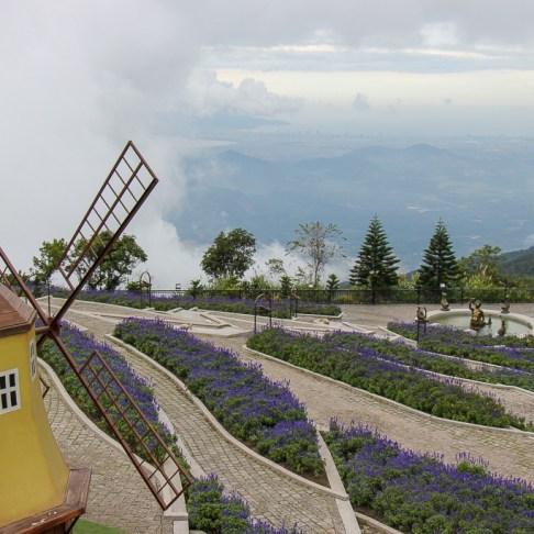 Flower garden at Ba Na Hills in Da Nang, Vietnam