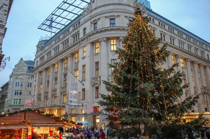 Christmas tree in Budapest, Hungary