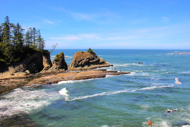 Looking over Sunset Bay Beach near Coos Bay, Oregon