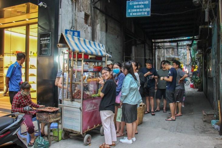Always a line at Banh Mi 37, Saigon, HCMC, Vietnam