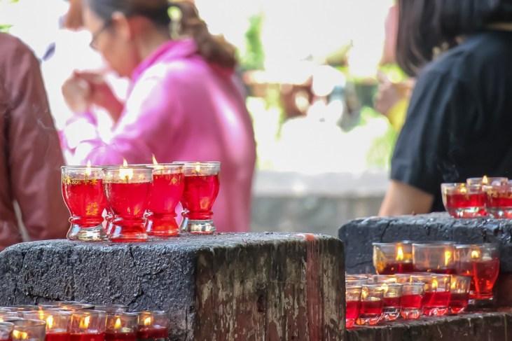 Lighting candles, Ngọc Hoàng Pagoda, Ho Chi Minh City, Vietnam