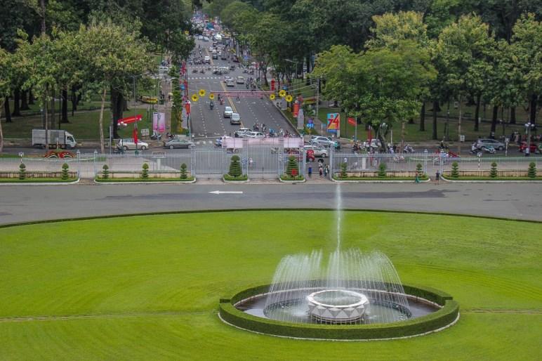 Fountain at the Independence Palace, Saigon, HCMC, Vietnam