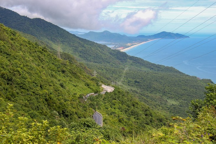 Amazing coastal views from Hai Van Pass, Vietnam