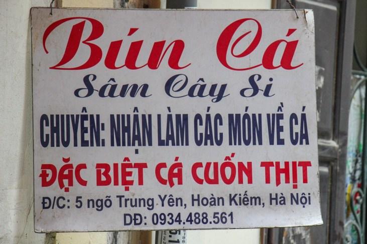 Bun Ca, Hanoi. Vietnam