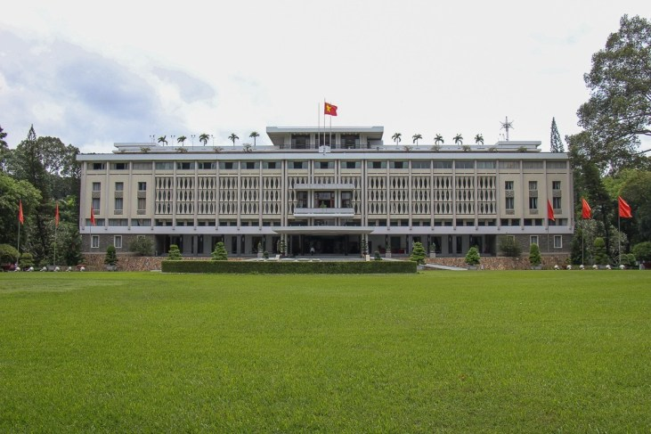 Independence Palace from the front, Saigon, HCMC, Vietnam