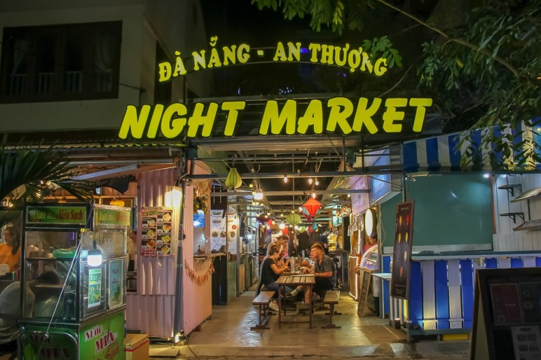 An Thuong Night Market, Da Nang, Vietnam