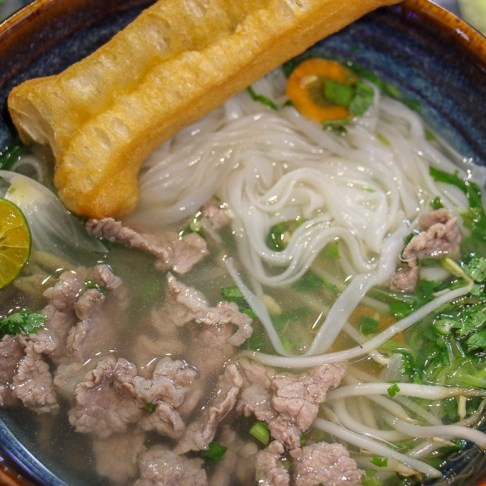 Bowl of Pho at Rose Kitchen Hanoi Cooking Class in Vietnam