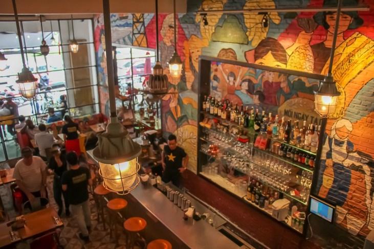 Stylish Bar Area, Propaganda Restaurant, Saigon, HCMC, Vietnam