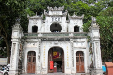 Entrance to Quan Thanh Temple in Hanoi, Vietnam
