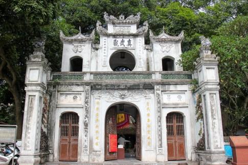 Entrance to Quan Thanh Temple in Hanoi, Vietnam