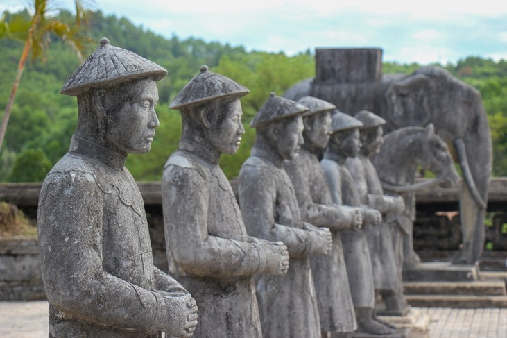 Line of Statues at the Royal Tomb of Khai Dinh King, Hue, Vietnam