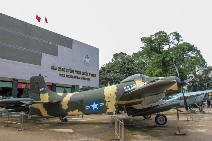 US Military Planes at the War Remnants Museum, Saigon, HCMC, Vietnam