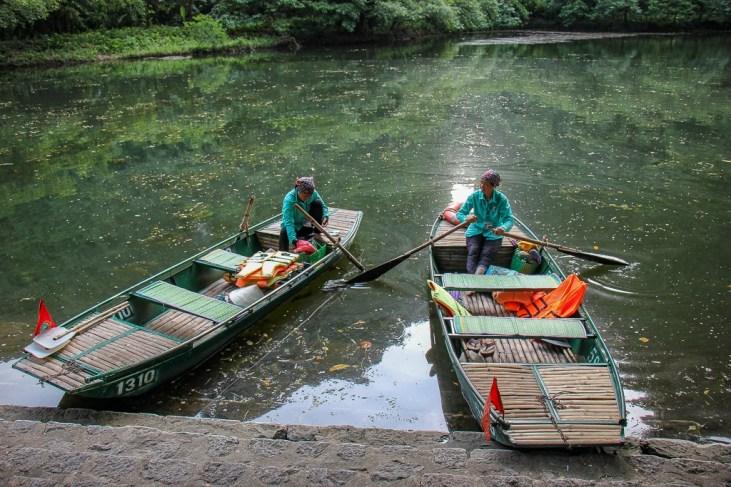The women rowers at Trang An, Ninh Binh Province, Vietnam