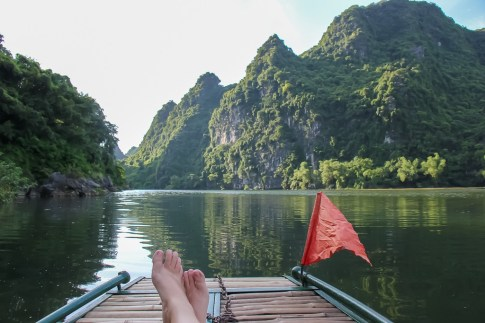 Relax on the Lakes at Trang An, Ninh Binh Province, Vietnam