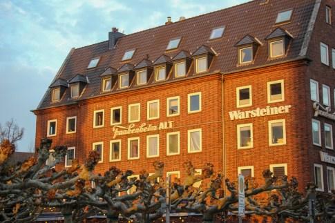 Brick building, Dusseldorf, Germany