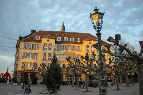 Looking at Burgplatz, Dusseldorf, Germany