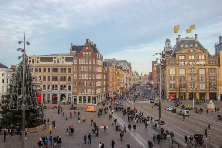 Always buzzing, Dam Square, Amsterdam