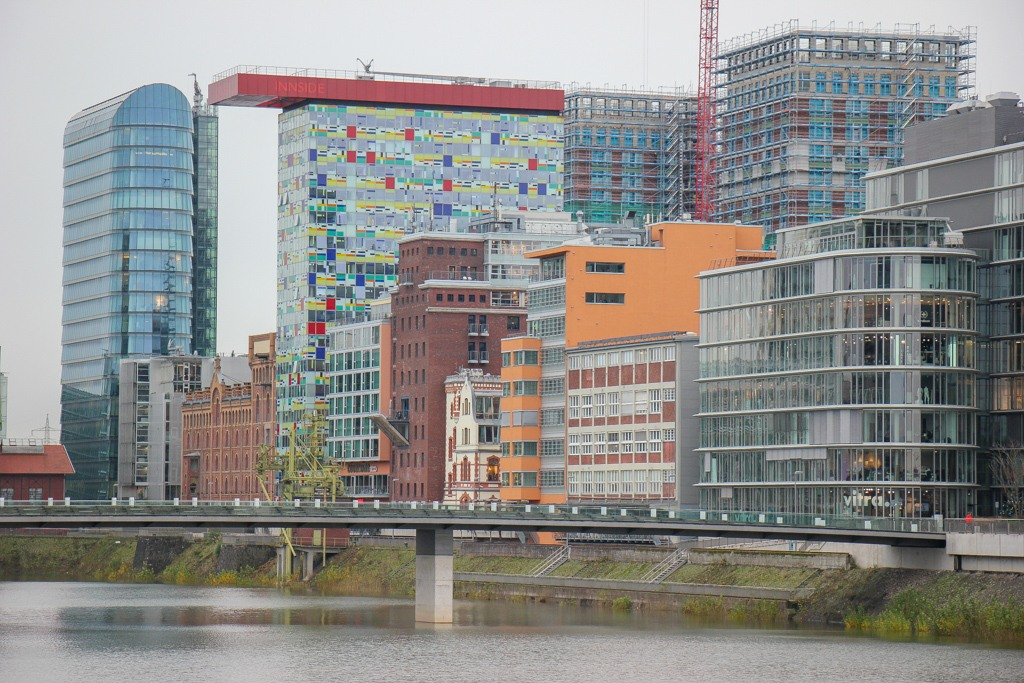 New Buildings at Meidenhafen, Dusseldorf, Germany