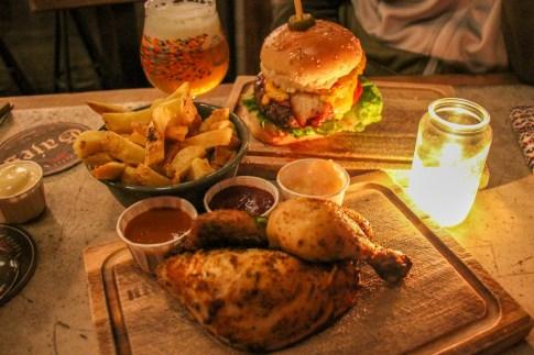 De Biertuin (order their famous rotisserie chicken or a gourmet burger