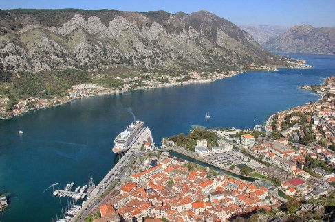 HIking Above the Bay of Kotor, Montenegro