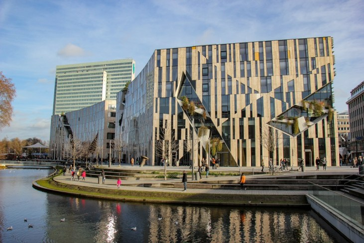 New building in Dusseldorf, Germany fashion district