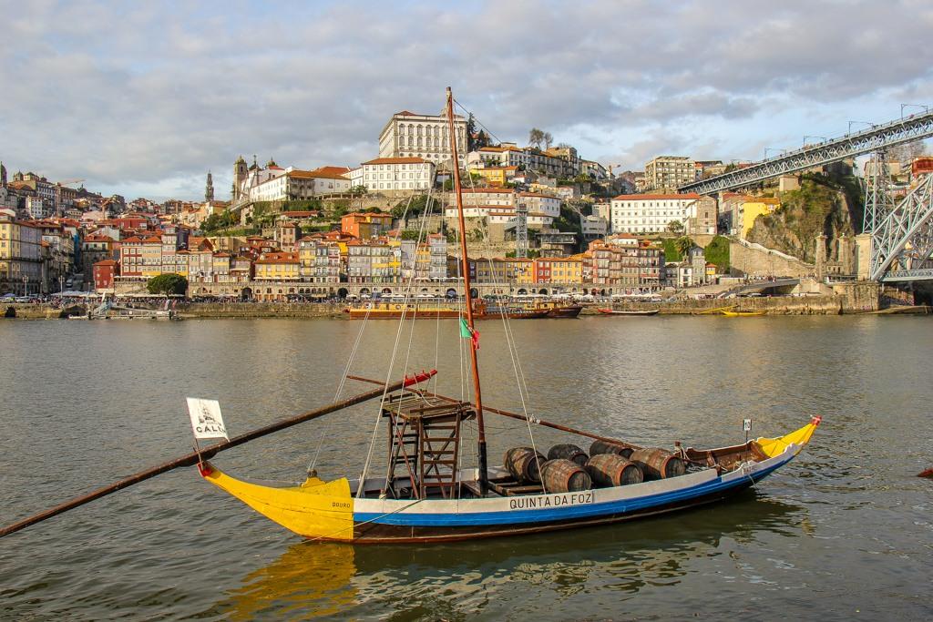 Amazing view across the Douro River, Porto, Portugal