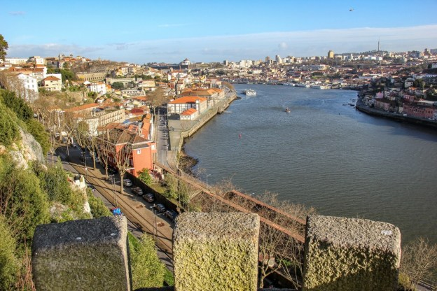 Douro River View from Crystal Gardens Park, Porto, Portugal