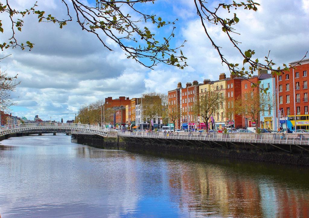 River Liffy View, Dublin Ireland Walking Tour
