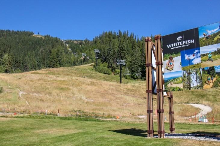 Entrance to Big Mountain Resort, Train Station, Whitefish, Montana