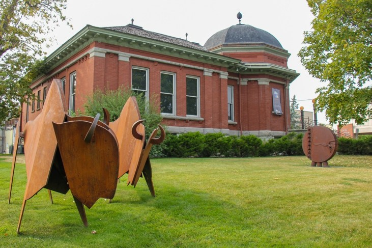 Buffalo Art in front of the Hockaday Museum, Kalispell, MT