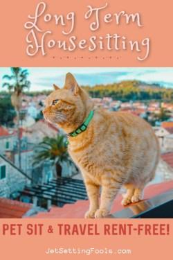 Long Term Housesitting Pet Sit by JetSettingFools.com