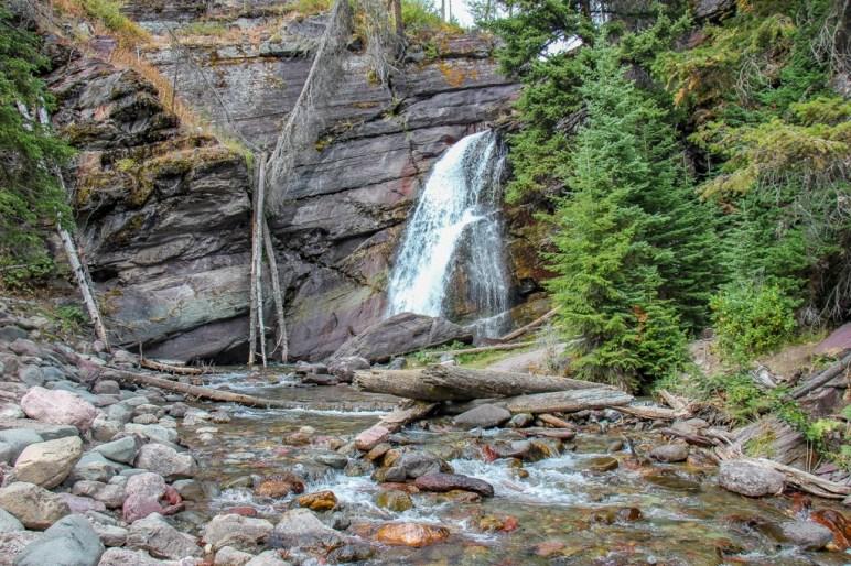 View of Baring Falls, Glacier National Park, Montana
