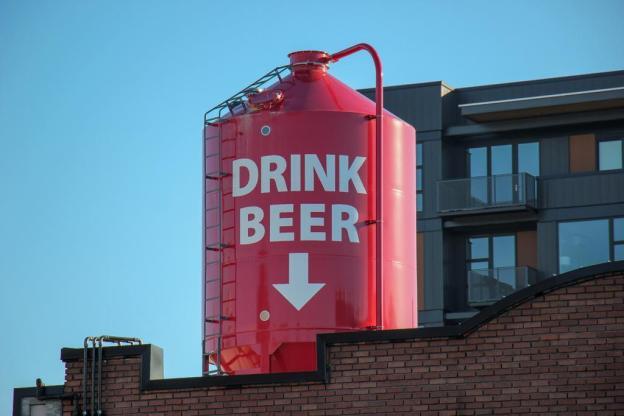 Drink Beer Sign, Spokane, WA