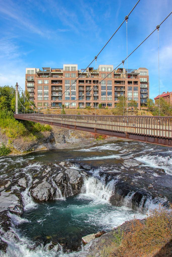 Walking Bridge across Spokane Falls, Spokane, WA