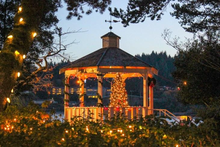 Christmastime Gazebo, Florence, Oregon