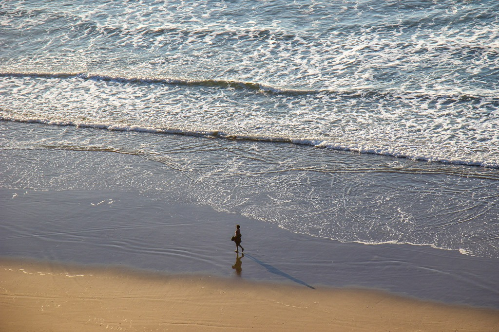 Walking along Heceta Beach, Oregon