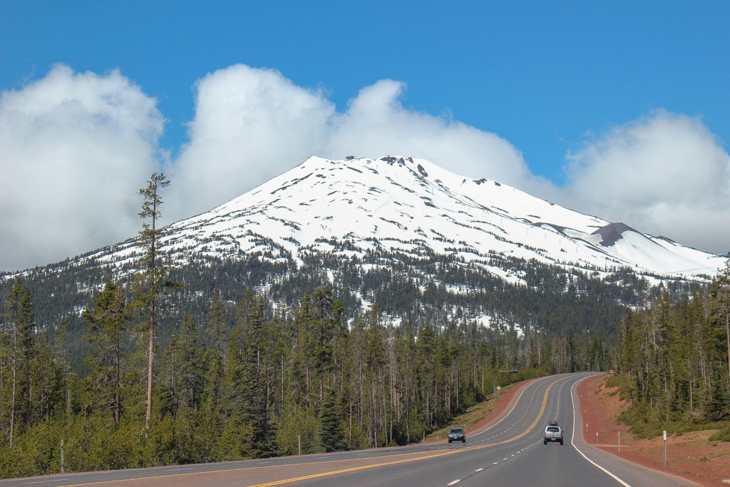View from the Cascade Lakes Scenic Byway, Oregon