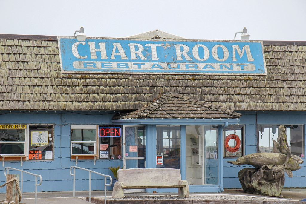 Must eat at the Chart Room, Crescent City, California