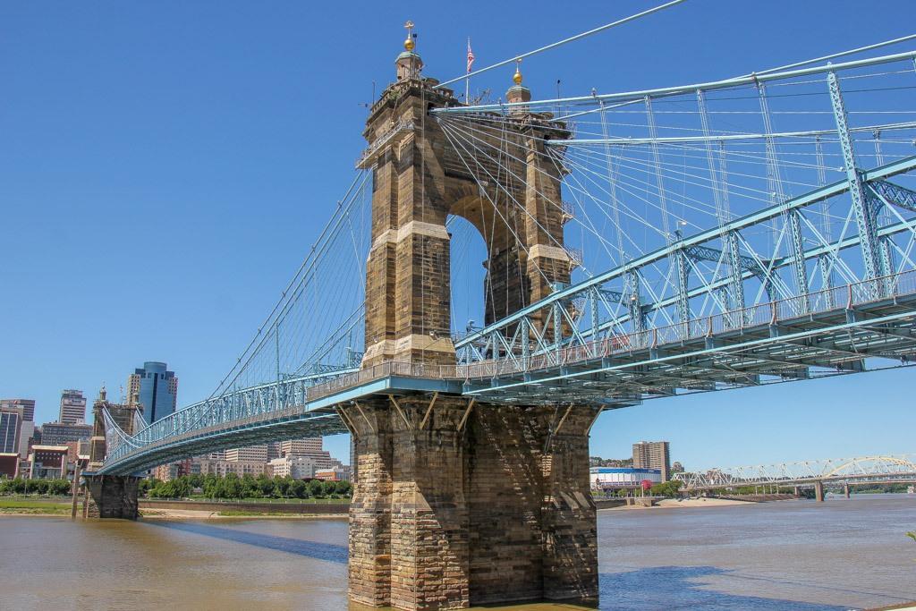 Walk across the Roebling Bridge, Covington, KY